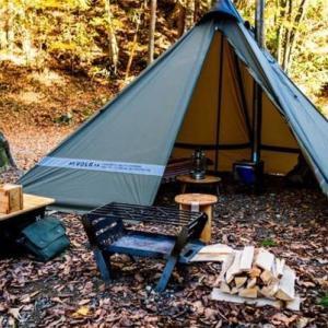 【フロアレス】キャンプ場に光るテント!?YOKA(ヨカ)のワンポールテントが魅力的