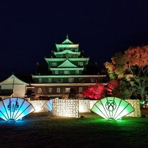 幻想的なライトアップ@岡山城・後楽園