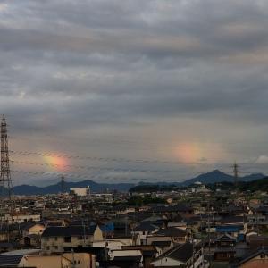 彩雲と雨宿り