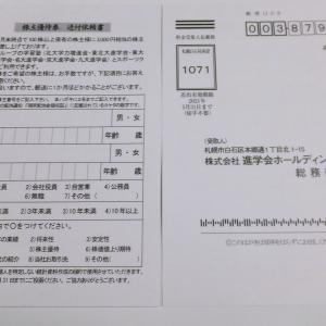 進学会HDの株主優待券(100株)