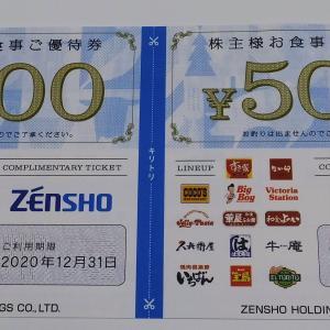 ゼンショーホールディングスの株主優待(100株)