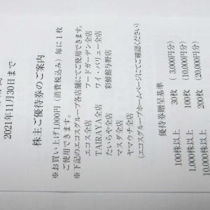 エコスの株主優待券(100株)