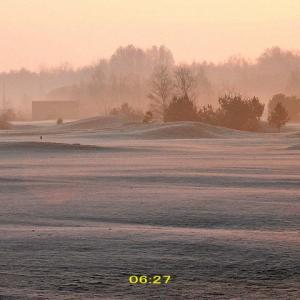 予想外の零下3度~そして靄と毛嵐