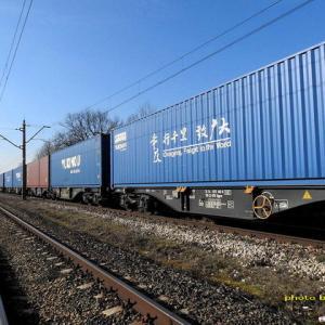 中国とヨーロッパを結ぶ貨物列車