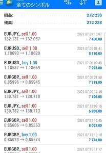 FX自動売買(EA)2021年7月月間報告