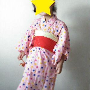 子どもの浴衣を手作り記録