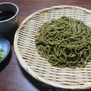 ざる蕎麦(はたけなか製麺『ぜいたく茶そば』)