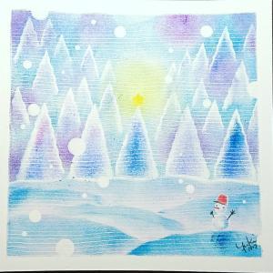 ☆クリスマスの森☆お洒落カフェパステル講座