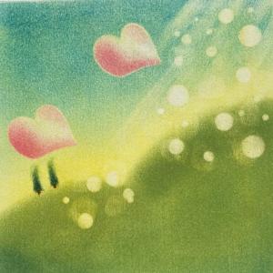 インストラクター養成講座、希望の丘、虹と灯台描きました。