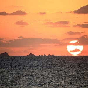 【 達磨夕陽出現とその後の景色 】