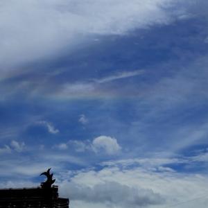 【 彩雲と十字架 】