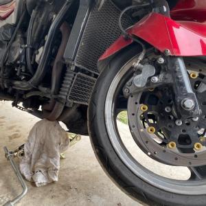 バイクのタイヤ交換