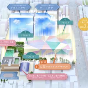 プラウドタワー亀戸クロス 3LDK 74㎡ 7,400万円台〜(37点/50点満点)
