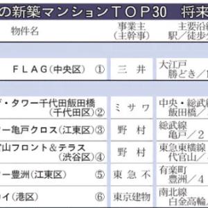 首都圏の新築マンショントップ30(日経産業新聞記事)