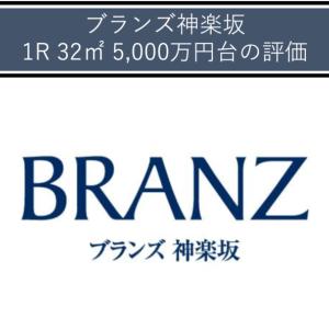 ブランズ神楽坂 1R 32㎡ 5,000万円台〜の評価(格付B)