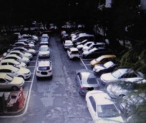 韓国のびっくり駐車