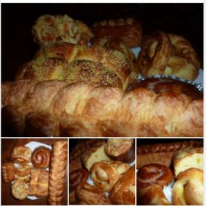 週末は、ノンビリ:ブランチで、味わいの手造りパン 🥐