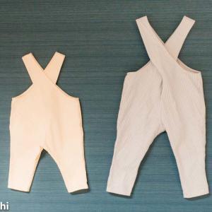 目指せ100着!! 09、10.クロスショルダーサロペット「男の子にも女の子にも作ってあげたい服」