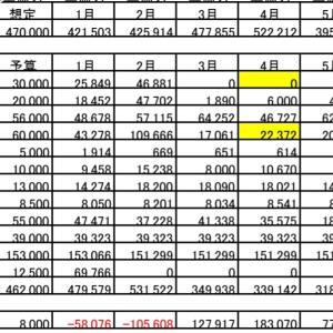 2020年6月度家計簿(共働き4人 家族)