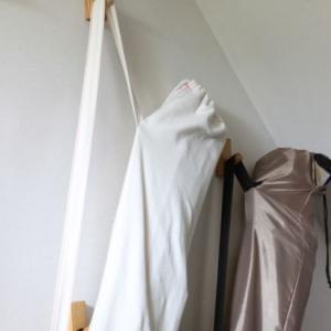 無印の壁に付けられる家具・フックでキャンプ道具を壁面収納
