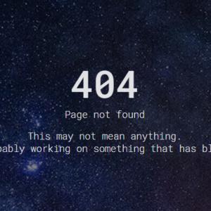 【無料】コピペで簡単!404エラーページHTML/CSSテンプレート素材31選