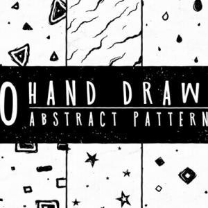 【無料&商用可】背景画像に使える!手書き風のかわいい抽象的パターン素材10種【包装用紙、洋服など何にでも使える!】