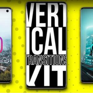 【AfterEffects】TikTok/Instagram用トランジション縦型スマホ動画用AEテンプレート4種【垂直/切り替わり/フェードイン・アウト】