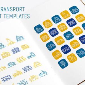 【無料&商用可】25種の交通機関/乗り物アイコン素材【vector/psd/トランスポート】