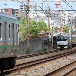 【国府津へ臨時回送】横須賀線E217系、日中に東海道本線横浜以東・東海道貨物線走行