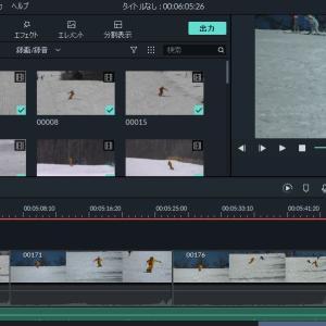 新しいソフトでスキー動画作ってみました