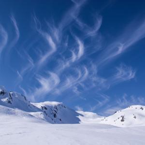 スキーで腰が引ける