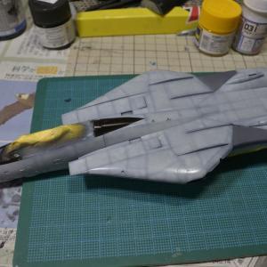 F-14 トムキャット塗装中