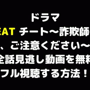 ドラマ『CHEAT チート~詐欺師の皆さん、ご注意ください~』全話見逃し動画を無料フル視聴する方法!