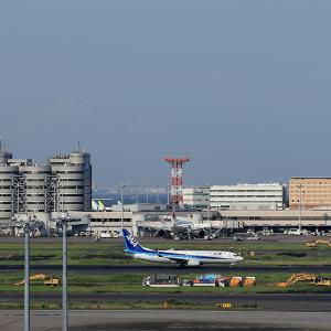 2019.08 羽田AP 国際線ターミナル ANA B38 JA88AN RWY16R DEP