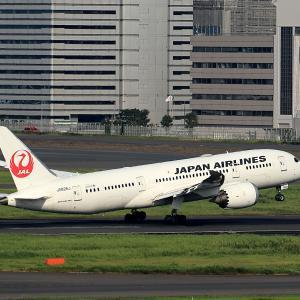 2019.08 羽田AP 国際線ターミナル JAL B88 JA828J RWY16R DEP