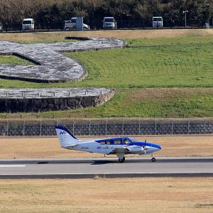 2020.03 高松AP デッキ 本田航空 Baron JA51HA RWY26 DEP