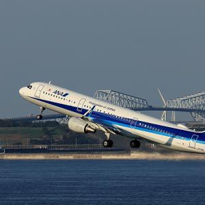 2020.09 羽田AP 2タミ ANA A321 JA113A RWY34R DEP