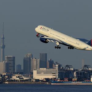 2020.09 羽田AP 2タミ DELTA A350-900 N513DZ RWY34R DEP