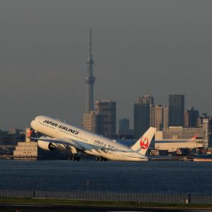 2020.09 羽田AP 2タミ JAL A350-900 JA02XJ RWY34R DEP