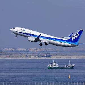 2011.03 羽田AP 第2ターミナル ANA B38 JA54AN RWY34R DEP