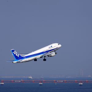2011.03 羽田AP 第2ターミナル ANA A320 JA8386 RWY16L DEP