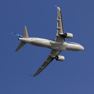 2021.03 羽田AP HICity スカイデッキ ANA A320 JA212A RWY22 DEP