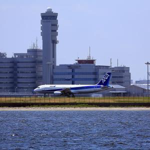 2011.07 海羽田2 屋形船 ANA A320 JA8609 RWY16L DEP