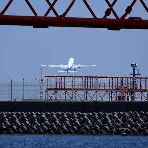 2011.07 海羽田2 屋形船 ANA B777 RWY16L DEP