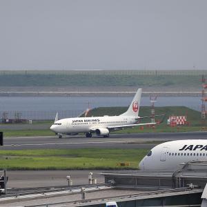 2021.07 羽田AP 第2ターミナル JAL B38 JA331J RWY34R DEP