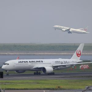 2021.07 羽田AP 第2ターミナル JAL A350-900 JA02XJ RWY34R DEP