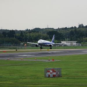 2011.08 成田AP ナリコー ANA A320 RWY16L ARV