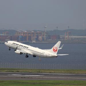 2021.07 羽田AP 第2ターミナル JAL B38 JA309J RWY34R DEP