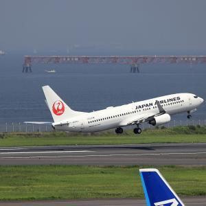 2021.07 羽田AP 第2ターミナル JAL B38 JA314J RWY16L DEP