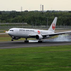 2011.08 成田AP ナリコー JAL B63 JA614J Japan Endless Discovery RWY16L ARV